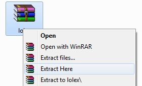 extract with winrar